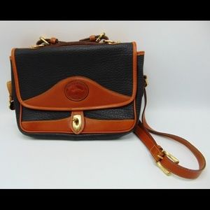 Vintage Dooney & Bourke blue messenger carrier bag